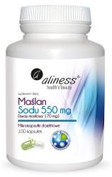 Maślan Sodu  550 mg (Kwas masłowy 170 mg) x 100 VEGE kaps.