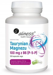 Taurynian Magnezu 100 mg z B6 (P-5-P) x 100 vege caps