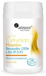 Cytrynian Magnezu BEZWODNY 100% z B6 (P-5-P) PROSZEK 250g