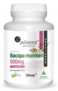 Bacopa monnieri extract 50%, 500 mg x 100 Vege Caps.