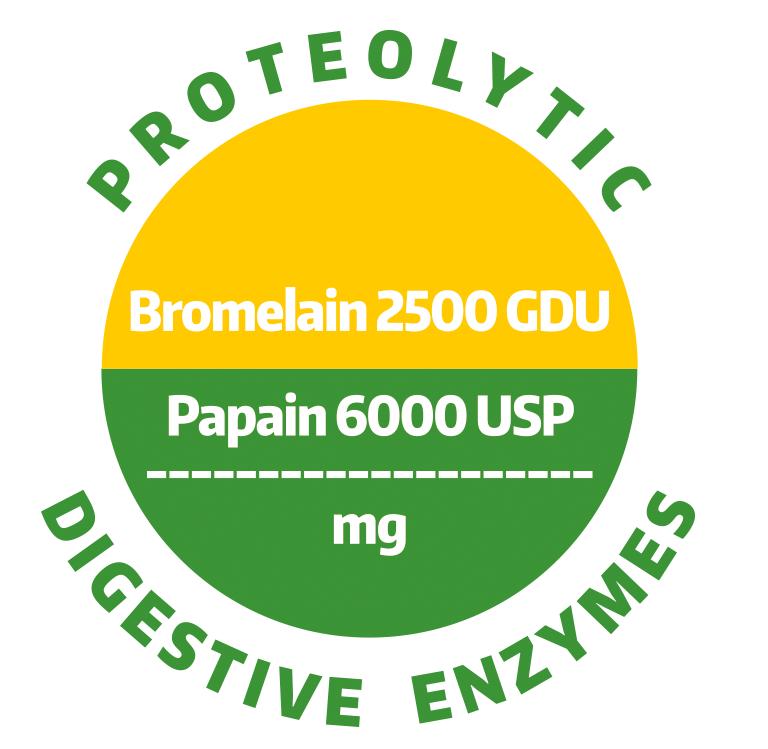 ALINESS Bromelaina 500mg, Papaina 200 mg 100 kaps.