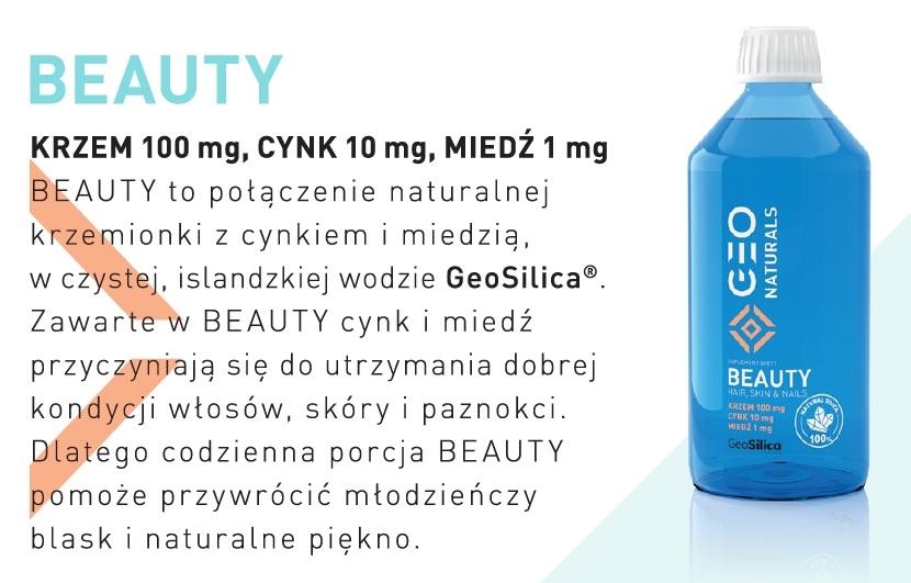 ALINESS GEONATURALS SILICA BEAUTY - Krzem 100 mg,Cynk 15mg, Miedź 1mg 500 ml
